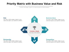 Priority Matrix With Business Value And Risk Ppt Powerpoint Presentation Ideas Graphic Images