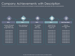 Private Equity Fund Pitch Deck To Raise Series C Funding Company Achievements With Description Diagrams PDF