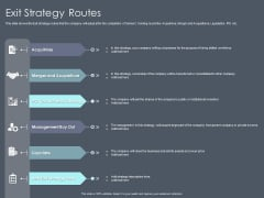 Private Equity Fund Pitch Deck To Raise Series C Funding Exit Strategy Routes Download PDF