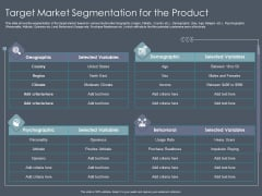 Private Equity Fund Pitch Deck To Raise Series C Funding Target Market Segmentation For The Product Formats PDF