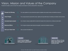 Private Equity Fund Pitch Deck To Raise Series C Funding Vision Mission And Values Of The Company Designs PDF