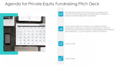 Private Equity Fundraising Pitch Deck Agenda For Private Equity Fundraising Pitch Deck Elements PDF