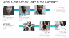 Private Equity Fundraising Pitch Deck Senior Management Team Of The Company Background PDF