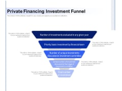 Private Financing Investment Funnel Ppt PowerPoint Presentation Gallery Shapes PDF