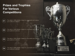 Prizes And Trophies For Various Competitions Ppt PowerPoint Presentation File Visuals PDF