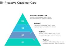 Proactive Customer Care Ppt PowerPoint Presentation Topics Cpb Pdf