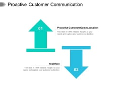 Proactive Customer Communication Ppt PowerPoint Presentation Layouts Background Cpb Pdf