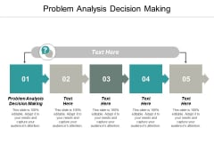 Problem Analysis Decision Making Ppt PowerPoint Presentation Model Microsoft Cpb