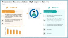 Problem And Recommendations High Employee Turnover Mockup PDF