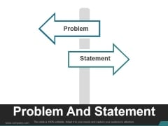 Problem And Statement Ppt PowerPoint Presentation Guidelines