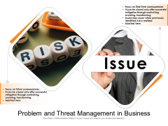 Problem And Threat Management In Business Ppt PowerPoint Presentation File Files PDF