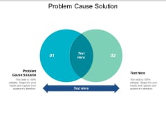 Problem Cause Solution Ppt PowerPoint Presentation Model Layout Ideas Cpb