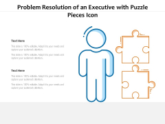 Problem Resolution Of An Executive With Puzzle Pieces Icon Ppt PowerPoint Presentation File Pictures PDF