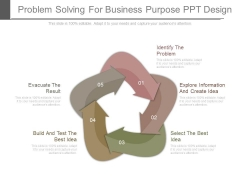 Problem Solving For Business Purpose Ppt Design