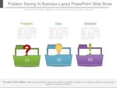 Problem Solving In Business Layout Powerpoint Slide Show