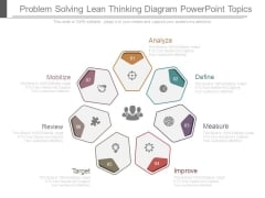 Problem Solving Lean Thinking Diagram Powerpoint Topics
