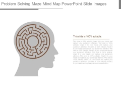 Problem Solving Maze Mind Map Powerpoint Slide Images