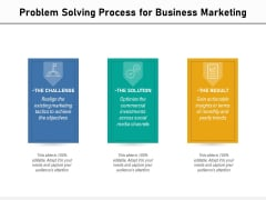 Problem Solving Process For Business Marketing Ppt PowerPoint Presentation File Layouts PDF