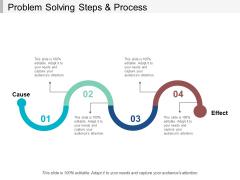 Problem Solving Steps And Process Ppt Powerpoint Presentation Portfolio Themes