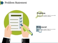 Problem Statement Ppt PowerPoint Presentation File Diagrams