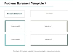 Problem Statement Solution Ppt PowerPoint Presentation Inspiration Templates