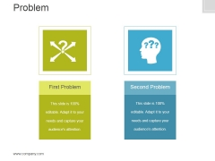Problem Template 2 Ppt PowerPoint Presentation Slides