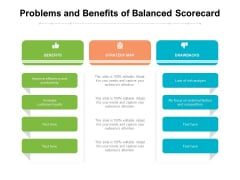 Problems And Benefits Of Balanced Scorecard Ppt PowerPoint Presentation Infographics Pictures PDF