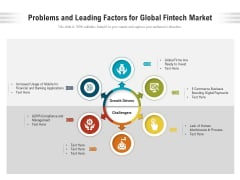 Problems And Leading Factors For Global Fintech Market Ppt PowerPoint Presentation Show Portfolio PDF