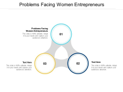 Problems Facing Women Entrepreneurs Ppt PowerPoint Presentation Icon Background Images Cpb