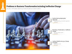 Problems In Business Transformation Including Ineffective Change Ppt PowerPoint Presentation File Slides PDF