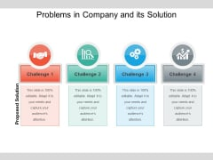 Problems In Company And Its Solution Ppt PowerPoint Presentation Styles Good