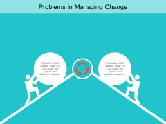 Problems In Managing Change Ppt PowerPoint Presentation Outline Format