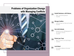 Problems Of Organization Change With Managing Conflicts Ppt PowerPoint Presentation File Good PDF
