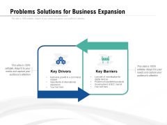 Problems Solutions For Business Expansion Ppt PowerPoint Presentation Show Clipart Images