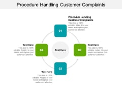 Procedure Handling Customer Complaints Ppt PowerPoint Presentation Gallery Cpb