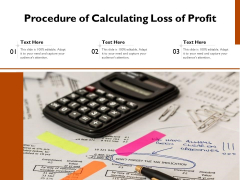 Procedure Of Calculating Loss Of Profit Ppt PowerPoint Presentation Gallery Elements PDF