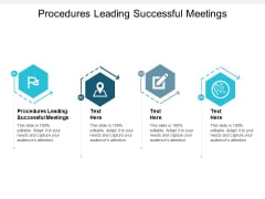 Procedures Leading Successful Meetings Ppt PowerPoint Presentation Styles Format Cpb