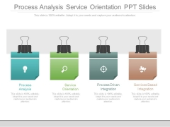 Process Analysis Service Orientation Ppt Slides
