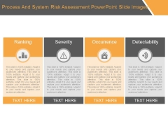 Process And System Risk Assessment Powerpoint Slide Images