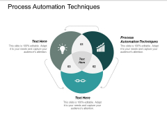 Process Automation Techniques Ppt PowerPoint Presentation Show Icon Cpb