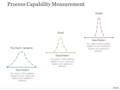 Process Capability Measurement Template 1 Ppt PowerPoint Presentation Pictures Visual Aids