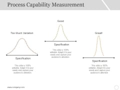 Process Capability Measurement Template 2 Ppt PowerPoint Presentation Icon Sample