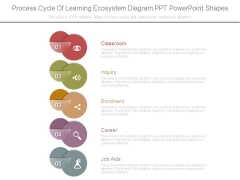 Process Cycle Of Learning Ecosystem Diagram Ppt Powerpoint Shapes