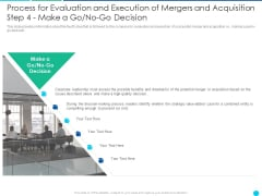 Process For Evaluation And Execution Of Mergers And Acquisition Step 4 Make A Go No Go Decision Download PDF