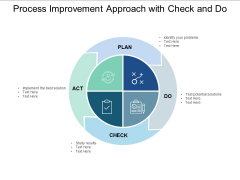 Process Improvement Approach With Check And Do Ppt PowerPoint Presentation Ideas Format Ideas