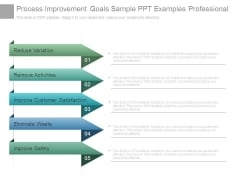 Process Improvement Goals Sample Ppt Examples Professional