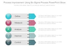 Process Improvement Using Six Sigma Process Powerpoint Show