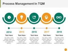 Process Management In Tqm Ppt PowerPoint Presentation Portfolio Information
