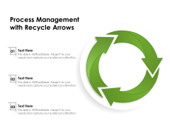 Process Management With Recycle Arrows Ppt PowerPoint Presentation Pictures Clipart Images PDF