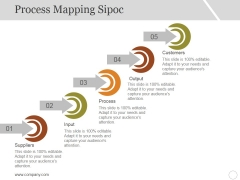 Process Mapping Sipoc Template 1 Ppt PowerPoint Presentation Layouts Example Topics